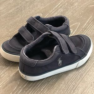 Other - Polo Ralph Lauren Navy Velcro Shoes size 10